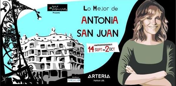 Lo Mejor de Antonia San Juan Barcelona Teatre Arteria