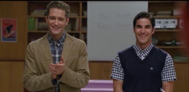 Glee Blaine se une a New Directions Darren Criss Matthew Morrison