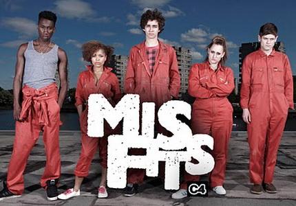 misfits e4 serie británica