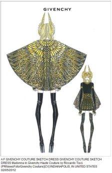 diseño vestido madonna superbowl 2012