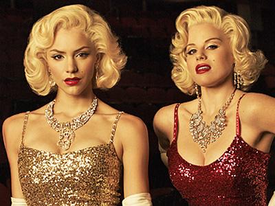 Katharine McPhee y Megan Hilty como Marylin Monroe Smash serie televisión